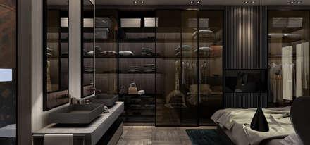 :  غرفة نوم تنفيذ STUDIO PARADIGM