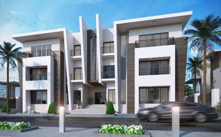Exterior design Villa 3& 4:  Villas by Rêny