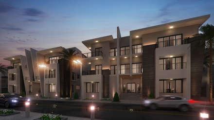 Exterior design Villa 3& 4:  Multi-Family house by Rêny