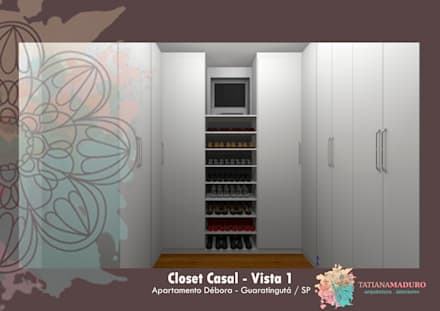 Vista 1: Closets modernos por Tatiana Maduro Arquitetura . Interiores