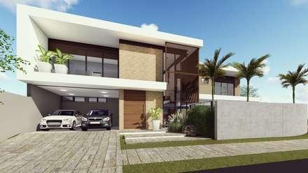 Residência A&A- Manacás: Casas modernas por UFFIZI arquitetura