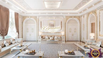 Living room in the oriental style from Katrina Antonovich: asian Living room by Luxury Antonovich Design