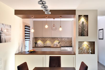 Une cuisine équipée à irigny par tiffany fayolle architecte dintérieur et décorateur à