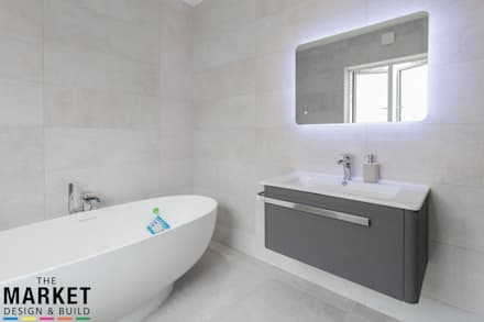 STUNNING NORTH LONDON HOME EXTENSION AND LOFT CONVERSION: modern Bathroom by The Market Design & Build