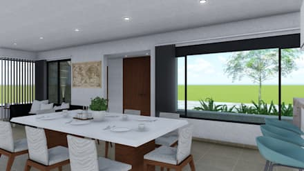 Comedores de estilo minimalista por ARBOL Arquitectos