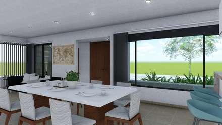 minimalistic Dining room by ARBOL Arquitectos