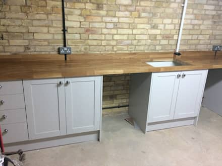 : industrial Kitchen by R&H Carpentry & Multitrade Services