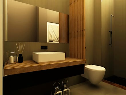 Apartamento no Lumiar: Casas de banho modernas por Rita Glória interior design