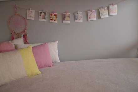 Quarto do Henrique e da Sara: Quartos de rapariga  por Rita Glória interior design