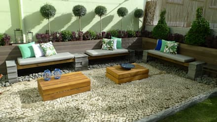 Jardim em Lisboa: Jardins modernos por Rita Glória interior design