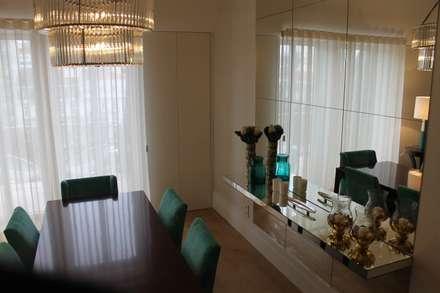 Apartamento na Avenida da Liberdade: Salas de jantar clássicas por Rita Glória interior design