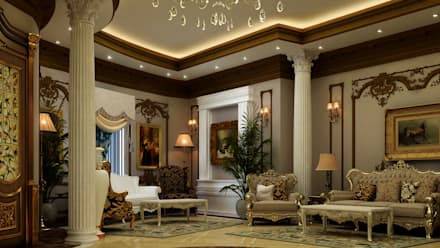 Villa Mrs. Nabila : eclectic Living room by Rêny