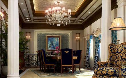 Villa Mrs. Nabila : eclectic Dining room by Rêny