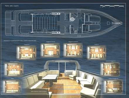 FreeStyle  Imbarcazione con tuga flessibile: Yacht & Jet in stile in stile Moderno di Gualtiero Del Zompo  dzarch