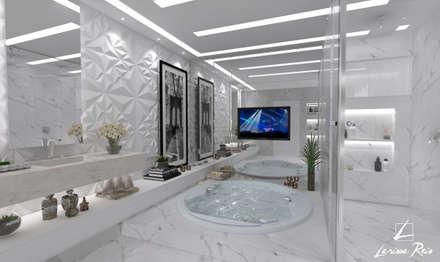 Banho Casal - P&F: Banheiros modernos por LARISSA REIS ARQUITETURA