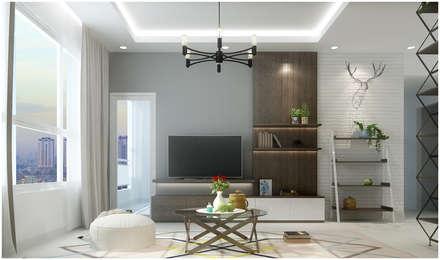Salas / recibidores de estilo asiático por Công ty TNHH TMDV Decor KT