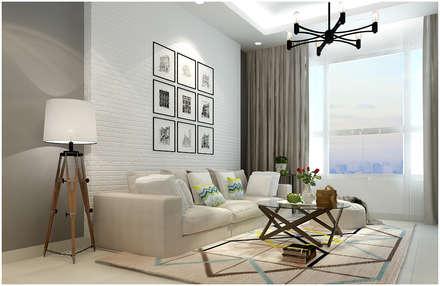 asian Living room by Công ty TNHH TMDV Decor KT
