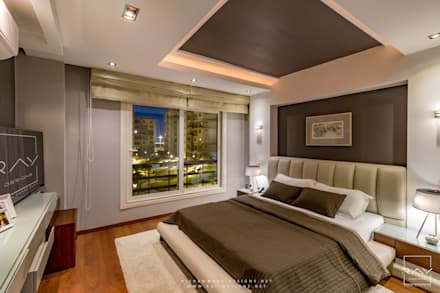 Mr.H.B. FLAT INTERIOR DESIGN ,MADINATY:  غرفة نوم تنفيذ RayDesigns