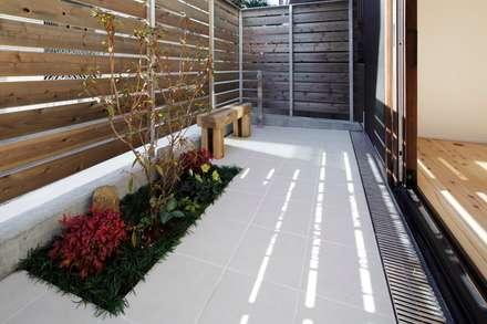 江戸川区K邸: スタジオ・スペース・クラフト一級建築士事務所が手掛けた庭です。