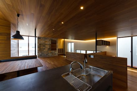 haus-flat キッチン: 一級建築士事務所hausが手掛けたシステムキッチンです。