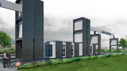 Anteproyecto Portico Barrio San blanca : Condominios de estilo  por NEF Arq.