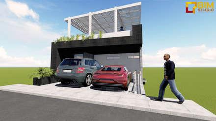: Casas de estilo minimalista por BIM STUDIO ARQUITECTOS SAC