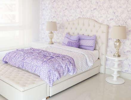 habitacin mariposas lilas habitaciones para nias de estilo por monica saravia - Habitaciones Nias