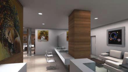 VISTA INTERNA: Espacios comerciales de estilo  por OMAR SEIJAS, ARQUITECTO