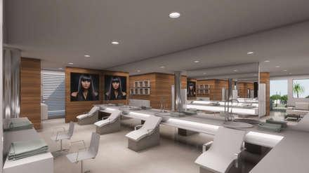 PELUQUERIA: Espacios comerciales de estilo  por OMAR SEIJAS, ARQUITECTO