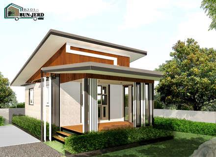 อาคารสำเร็จรูป บ้านพัก รีสอร์ท ร้านอาหาร ร้านเบเกอรี่:  บ้านและที่อยู่อาศัย by ออกแบบ เขียนแบบ ก่อสร้าง