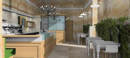CAFFETTERIA IN CENTRO: Bar & Club in stile  di CARLO CHIAPPANI  interior designer