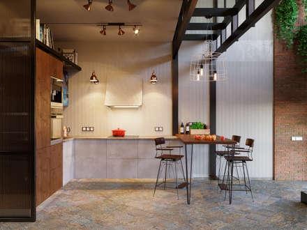 Кухня: Встроенные кухни в . Автор – Ёрумдизайн