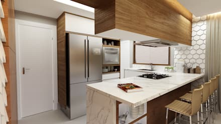Kitchen units by Juliana Zanetti Arquitetura e Interiores