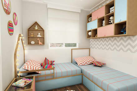 Girls Bedroom by Juliana Zanetti Arquitetura e Interiores
