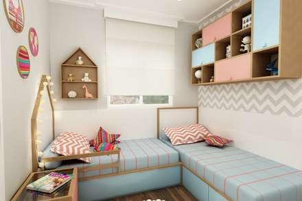 Cuartos para niñas de estilo  por Juliana Zanetti Arquitetura e Interiores