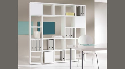 BOON - Cube Storage Units: modern Study/office by Regalraum UK
