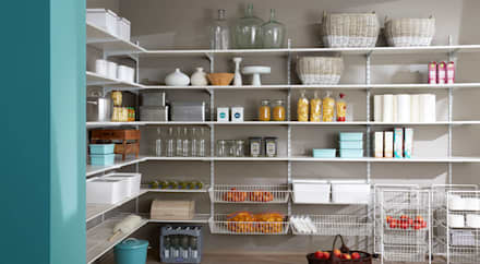 P-SLOT—Wall Shelving System:  Double Garage by Regalraum UK