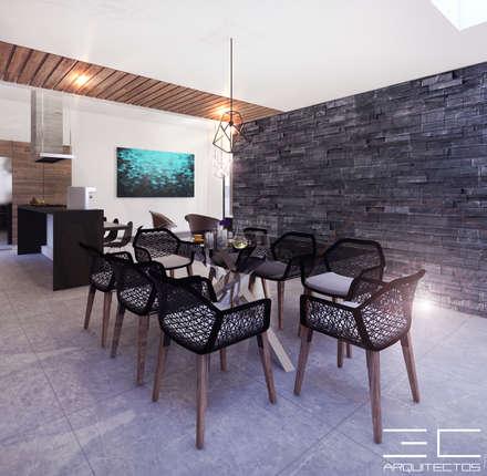Residencia PC [León, Gto.]: Comedores de estilo moderno por 3C Arquitectos S.A. de C.V.