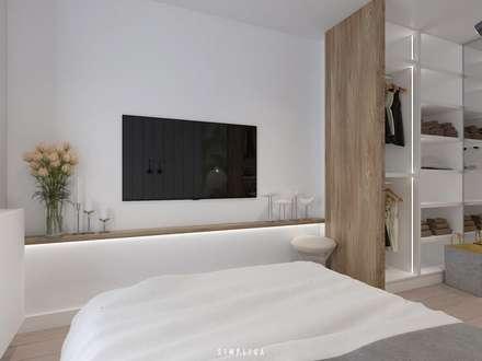modern Bedroom by SIMPLIKA