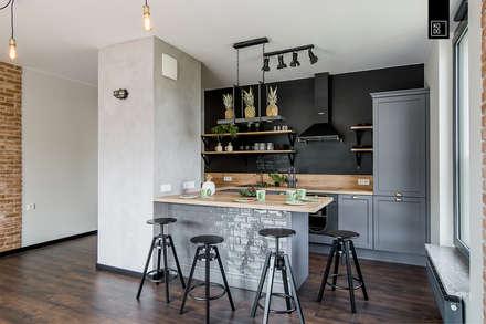 industrial Kitchen by Pracownie Wnętrz Kodo