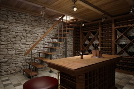 modern Wine cellar by Spacelab Design