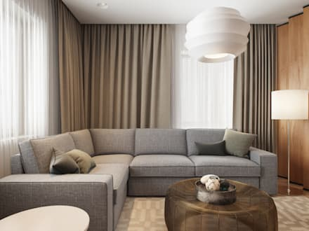 modern living room styles. House in Tomsk  modern Living room by EVGENY BELYAEV DESIGN Modern living ideas inspiration pictures homify