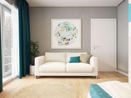 House in Tomsk: modern Nursery/kid's room by EVGENY BELYAEV DESIGN