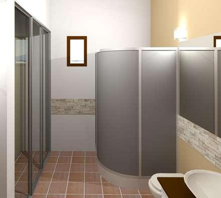 Baño principal: Baños de estilo moderno por Diseño Store