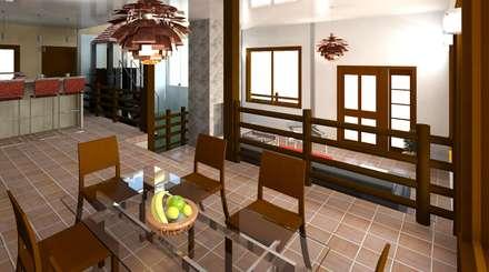 vista desde el comedor : Comedores de estilo moderno por Diseño Store