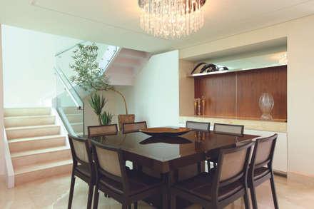 CASA - ALFAVILLE: Salas de jantar modernas por Danielle Valente Arquitetura e Interiores