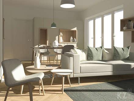 Rue Vles: Salon de style de style Scandinave par Kinkonz