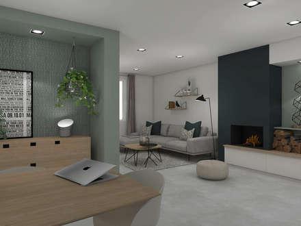 Inspiration forestière: Salle à manger de style de style Moderne par Agence Maïlys MOUTON