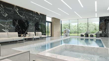 Интерьер жилого дома 600 м²: Переливные бассейны в . Автор – Morskoy Architect