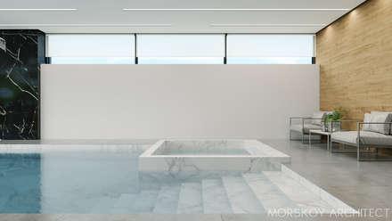 Интерьер жилого дома 600 м²: Бассейн в . Автор – Morskoy Architect